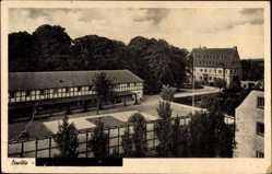 Postcard Erwitte in Westfalen, Blick auf Schule mit Hof
