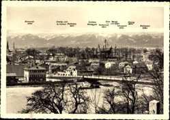 Postcard Rosenheim im Alpenvorland Oberbayern, Wendelstein, Brücke, Miesing
