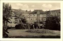Postcard Bad Wilsnack in der Prignitz, Blick auf das Goethe Haus, Garten