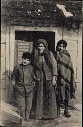 Ak Ostpreußen, Typen aus Russisch Polen, Bauernfamilie