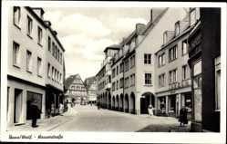 Postcard Unna im Ruhrgebiet, Wasserstraße, Konsum Geschäft