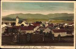 Postcard Rosshaupten Ostallgäu, Gesamtansicht mit Kirche