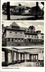 Postcard Nierhof Attendorn Westfalen, Bundesbahnschule, Innenansicht