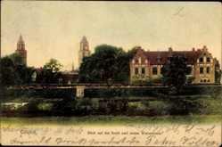 Postcard Coesfeld im Münsterland, Blick auf die Stadt und neues Waisenhaus