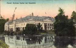 Postcard Osterwick Rosendahl Kreis Coesfeld, Fürstliches Schloss Varlar, Gewässer