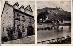 Postcard Alken an der Mosel, Pension Geschwister Ackermann, Malteserstraße 62