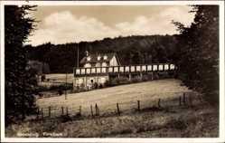 Postcard Gevelsberg Ruhrgebiet, Blick auf das Forsthaus, Wald, Feld