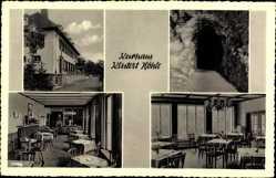 Postcard Ennepetal in Westfalen, Kurhaus Klutert Höhle, W. Ecke, Innenansicht