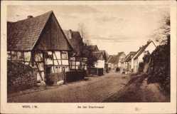 Postcard Werl im Kreis Soest Nordrhein Westfalen, Partie an der Stadtmauer
