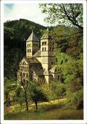 Postcard Murbach Elsaß Haut Rhin, Gebweilertal, Abteikirche, Vogesen