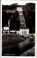 Foto Ak Kochel am See in Oberbayern, Blick auf Walchensee Kraftwerk