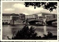 Postcard Mülheim an der Ruhr in Nordrhein Westfalen, Partie an der Ruhrbrücke