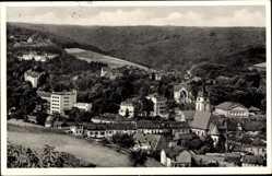 Postcard Bad Schwalbach im Rheingau Taunus Kreis, Blick auf den Ort, Wald