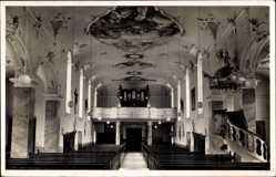 Postcard Bad Rippoldsau Schapbach im Schwarzwald, Inneres der Kirche, Orgel