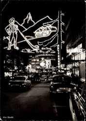 Postcard Essen im Ruhrgebiet, Am Markt, Lichtwochen 1963, Europäische Impressionen