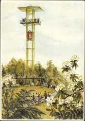 Künstler Ak Stuttgart in Baden Württemberg, Dt. Gartenschau 1950, Turm