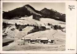 Postcard Ruhpolding im Kreis Traunstein Oberbayern, Winter, Ort, Berge