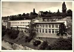 Postcard Stuttgart in Baden Württemberg, Jugendherberge, Fassade, Straße