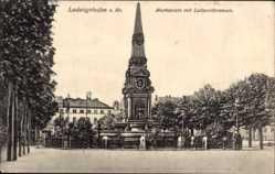 Postcard Ludwigshafen am Rhein, Blick auf Marktplatz mit Luitpoldbrunnen