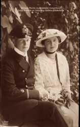 Ak Maria Hohenlohe Langenburg, Prinz Friedrich zu Schleswig Holstein Glücksburg
