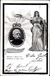 Passepartout Ak Fürst Otto von Bismarck, Reichskanzler, Todestag 30 Juli 1898