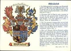 Lied Wappen Ak Ostfriesenlied, Ostfriesland, Eala frya Fresena
