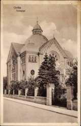 Judaika Ak Gotha im Thüringer Becken, Ansicht der Synagoge