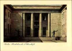 Postcard Berlin Mitte, Reichskanzlei, Architekt Speer, Ehrenhof, Denkmäler