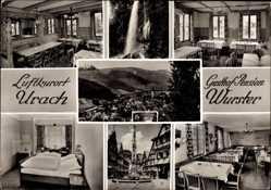 Postcard Bad Urach in der Schwäbischen Alb, Gasthof Pension Wurster