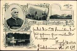 Postcard Bad Wörishofen im schwäbischen Kreis Unterallgäu, Prälat Kneipp, Kurhaus
