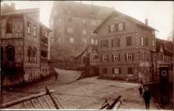 Foto Ak Eschwege im Werra Meißner Kreis, Markt, Gebäude, Anwohner