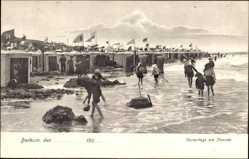 Postcard Insel Borkum im Kreis Leer, Vormittags am Strand, Sandburgenbau, Kinder