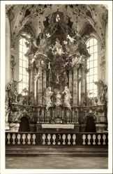 Postcard Rottenbuch Oberbayern, Klosterkirche Mariä Geburt, Hochaltar