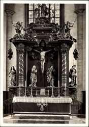 Postcard Nördlingen im Nördlinger Ries Schwaben, Pfarrkirche St Georg, Hochaltar 1683