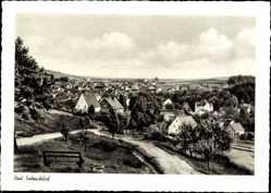 Postcard Bad Salzschlirf in Hessen, Blick auf die Stadt von Parkanlage aus