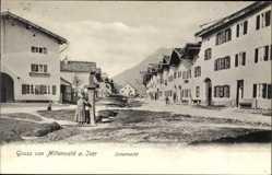 Postcard Mittenwald im Kreis Garmisch Partenkirchen, Blick auf den Untermark