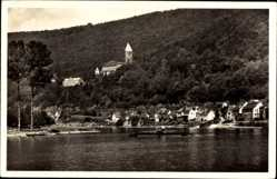 Postcard Zwingenberg im Neckar Odenwald Kreis, Partie am Neckar, Burg