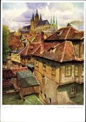 Künstler Ak Lüttgens, Gustav, Erfurt in Thüringen, An der Sackpfeifenmühle