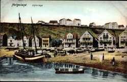 Postcard Helgoland in Schleswig Holst, Teilansicht der Insel in der Nordsee, Unterland