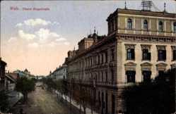 Postcard Wels Oberösterreich, Obere Ringstraße, Wohnhäuser