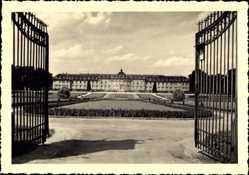 Foto Ak Ludwigsburg in Baden Württemberg, Eingangstor zum Schloss