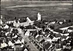 Postcard Bad Buchau am Federsee in Oberschwaben, Blick auf den Ort, Fliegeraufnahme