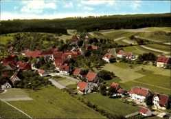 Postcard Hörschweiler Waldachtel im Schwarzwald, Blick auf den Ort, Fliegeraufnahme