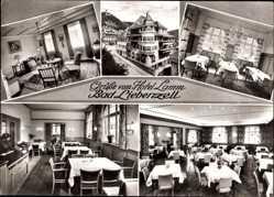 Postcard Bad Liebenzell im Schwarzwald, Hotel Lamm, Innenansicht, O. Bäcker