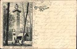 Postcard Fellbach im Rems Murr Kreis, Gruß vom Kernen, Aussichtsturm