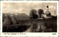 Postcard Murnau am Staffelsee in Oberbayern, Blick auf Ramsachkircherl, Heuberg