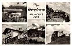 Postcard Berchtesgaden, Obersalzberg, Haus Wachenfeld, Vor und nach 1945