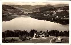 Postcard Titisee Neustadt im Breisgau Hochschwarzwald, Wolf's Hotel, Seepartie