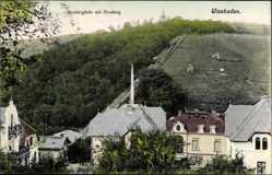 Postcard Wiesbaden in Hessen, Blick auf Nerobergbahn mit Neroberg, Häuser