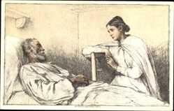 Ganzsachen Künstler Ak Bundesfeier 1927, Imfirmières Invalides, Schweiz